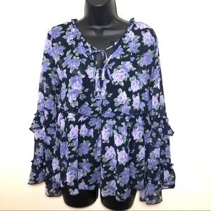 American Eagle outfitters floral shirt
